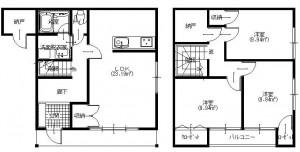 ノイライフ1,2階平面図