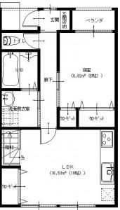 余目1階平面図A